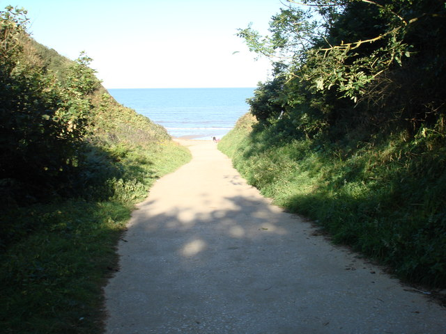 Trackway from Primrose Valley to Hunmanby Sands