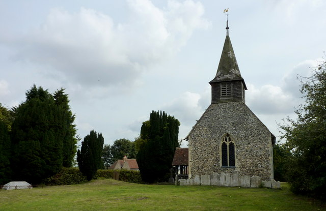 View of the west end of All Saints church, Chillenden