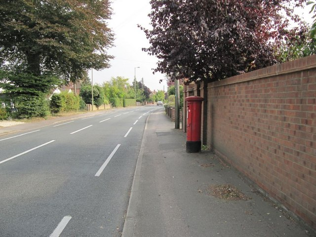 Post box on the Wantage road