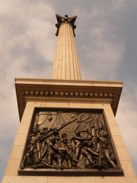 London: looking up Nelson's Column