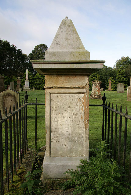 A Covenanters memorial in Old Dailly Churchyard