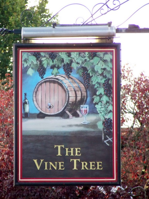 Sign for the Vine Tree, Frome