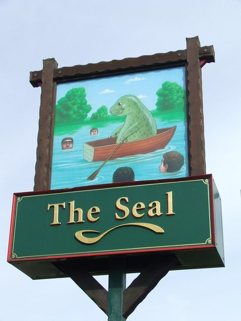 The Seal Pub Sign
