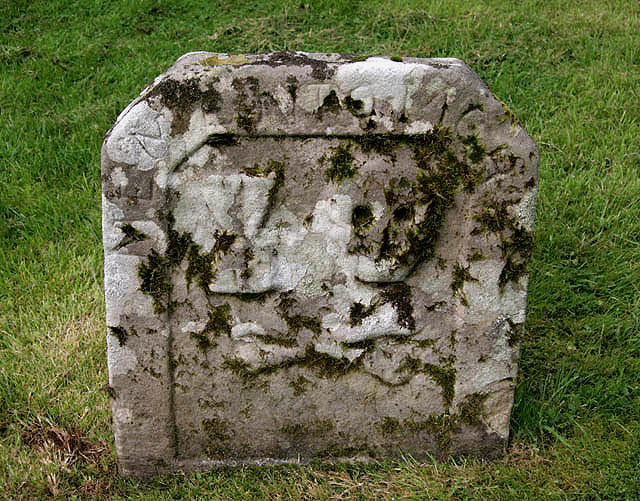 A symbolic gravestone at Old Dailly Churchyard
