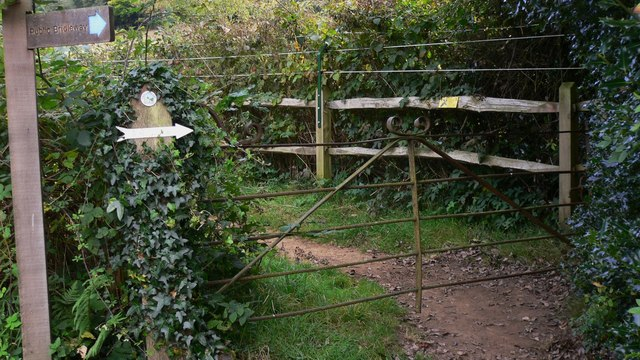 Gate on bridleway near Iping