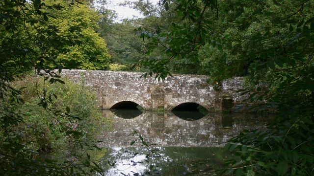 Stedham Bridge seen from footpath to the west