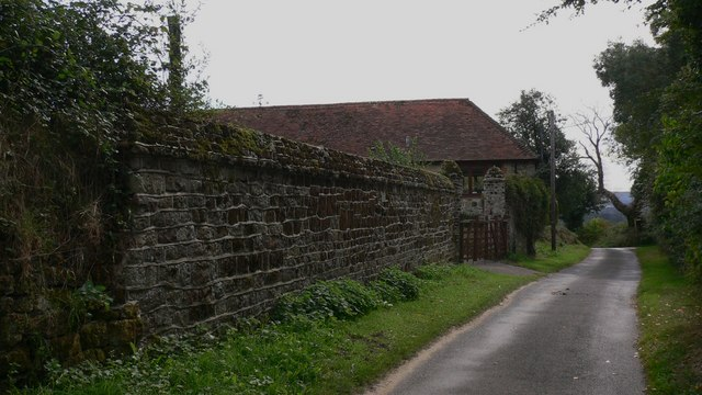 Wall at Woodgate Farm on Tote Lane near Stedham