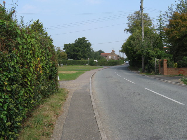 Looking north on Littleworth Lane