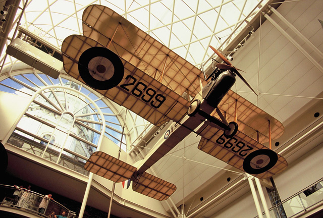 Royal Aircraft Factory BE2c at the Imperial War Museum