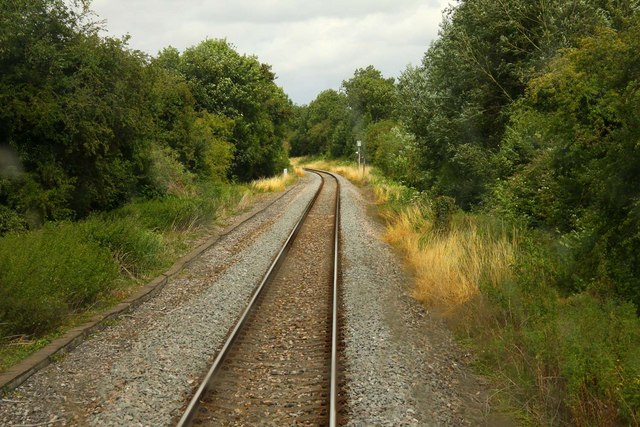 The line to Bicester at Upper Wolvercote