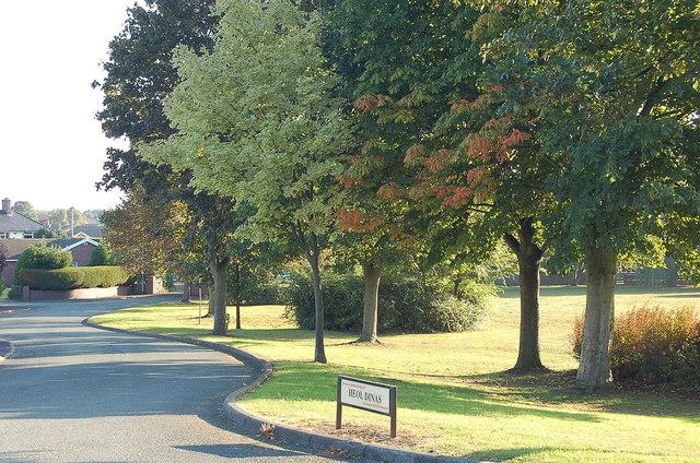 NW edge of Acton Park, Wrexham