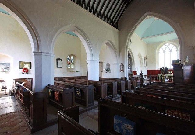 All Saints, Kirby Cane, Norfolk - North arcade