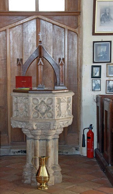 All Saints, Kirby Cane, Norfolk - Font