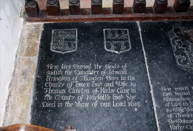 All Saints, Kirby Cane, Norfolk - Ledger slab