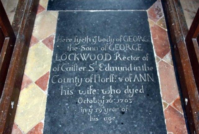 All Saints, Kirby Cane, Norfolk - Ledger slab