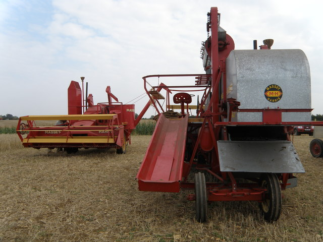 Two Massey Harris 21 combines