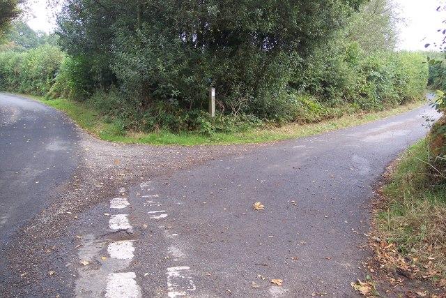 Split junction on Nineveh Lane