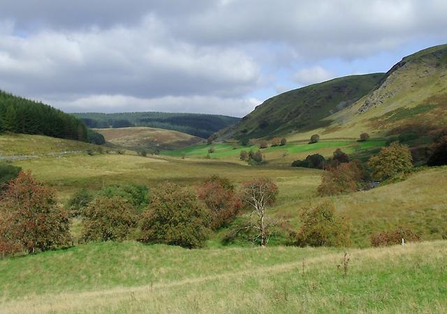 The Tywi Valley north of Llyn Brianne
