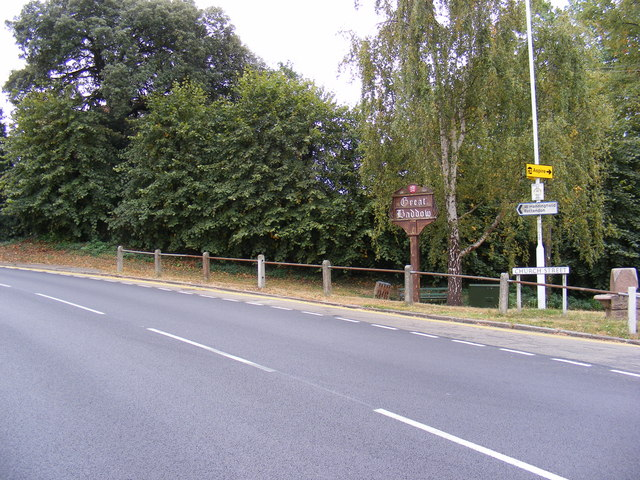 Church Street, Great Baddow & Great Baddow Village Sign