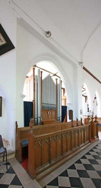 St Mary, Ellingham, Norfolk - Organ