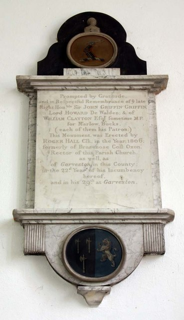 St Mary, Ellingham, Norfolk - Wall monument