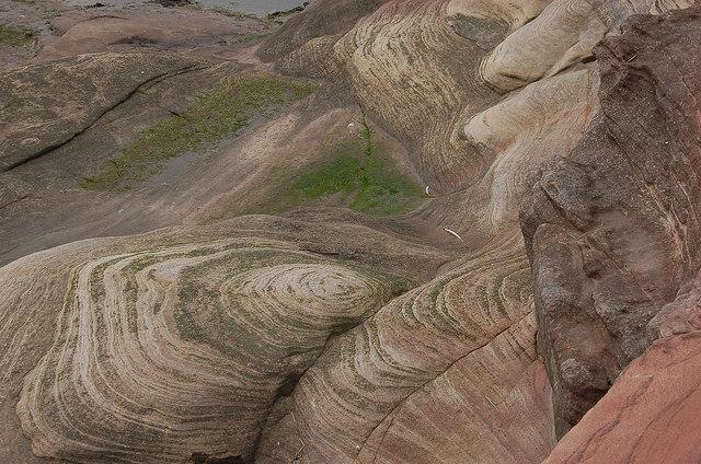Sea-washed sandstone, Hilbre Island