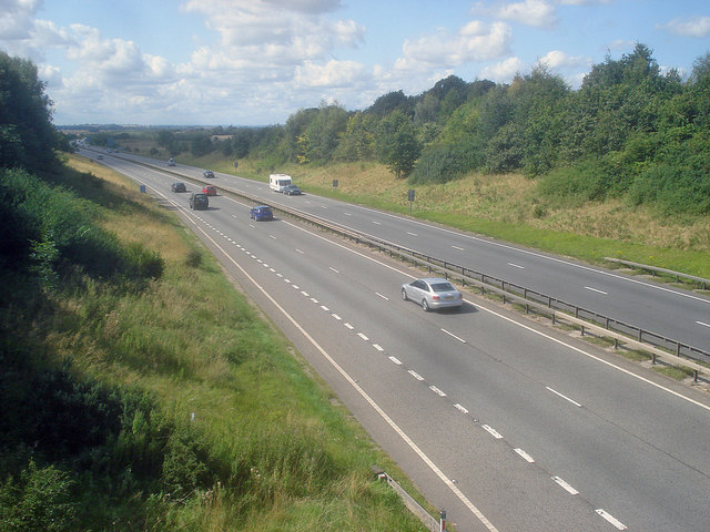 A42 at Willesley Wood