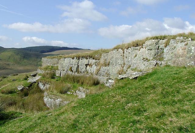 Rock outcrop on Esgair Gelli, Ceredigion
