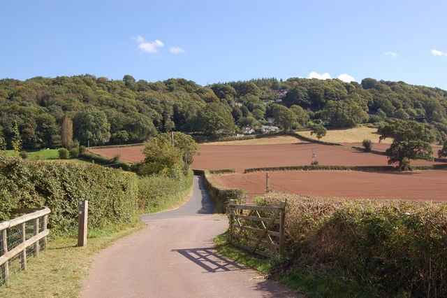 Offa's Dyke footpath ascending the Kymin