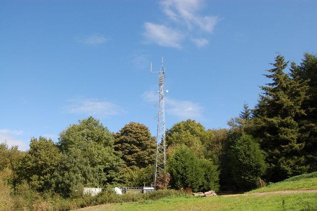 Mobile phone mast on the Kymin