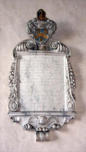 St Margaret of Antioch, Norfolk - Wall monument