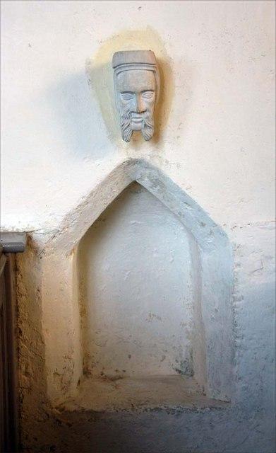 St Margaret of Antioch, Norfolk - Piscina