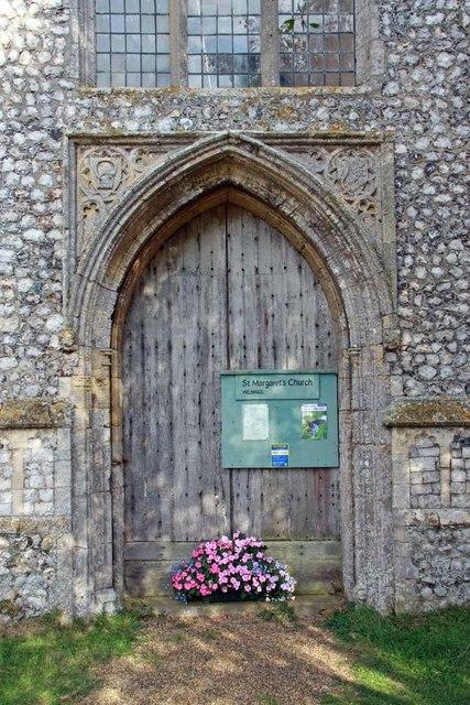 St Margaret of Antioch, Norfolk - West doorway