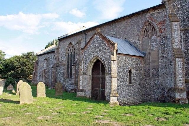 St Margaret of Antioch, Norfolk - North porch