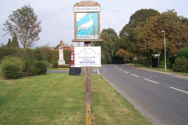 Cranbrook Town Sign