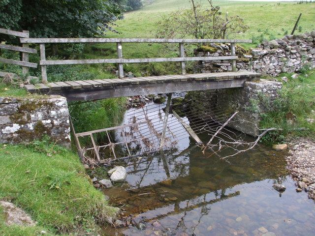 Wooden Footbridge over Ellers Beck