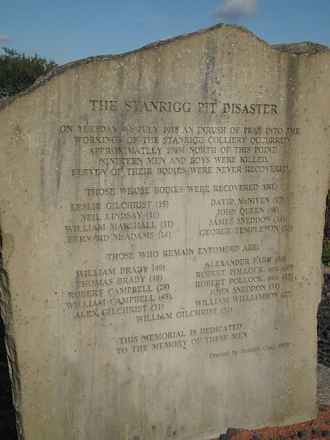 Stanrigg disaster memorial
