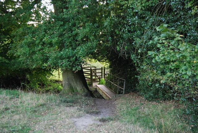 Footbridge on the path to Crockham Hill