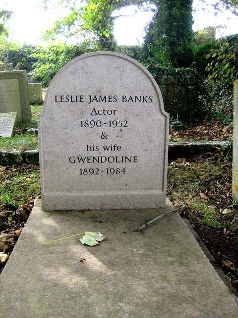 The grave of  Leslie Banks - Worth Matravers