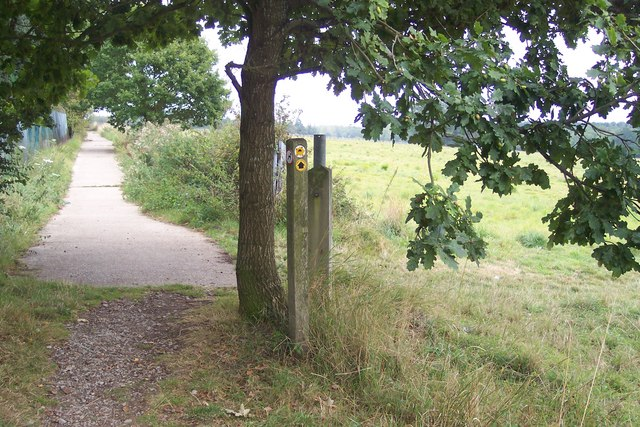 Footpath junction on the High Weald Landscape Trail