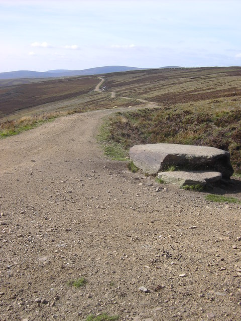 The landrover track looking towards Mowat's Seat
