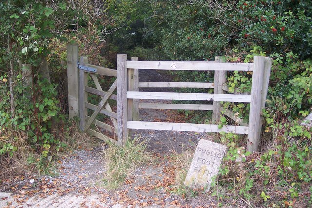 Kissing gate before  Well Wood