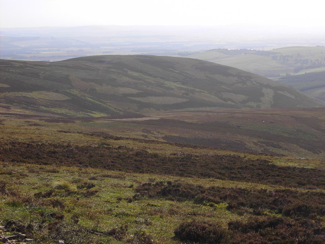The Craig of Trusta from the moor above Mowat's Seat
