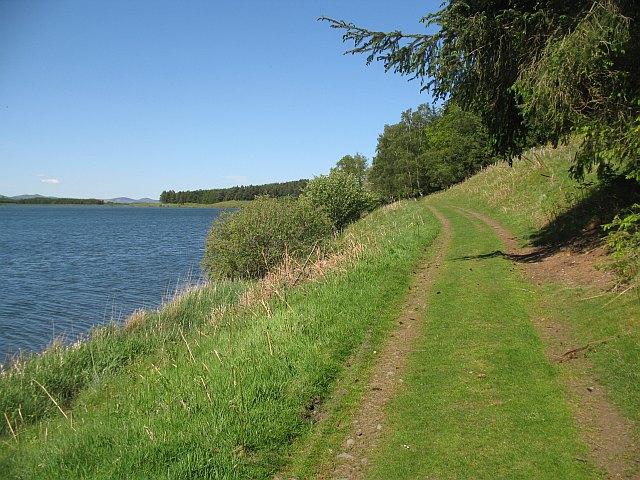Track beside Portmore Reservoir
