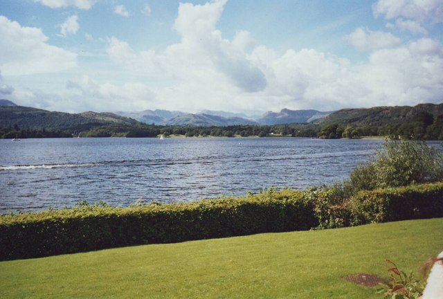 Lake Windermere from Low Wood Hotel south of Ambleside