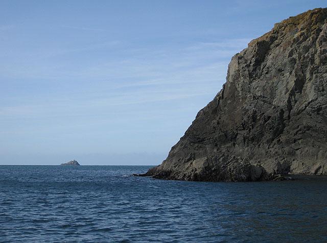 Rounding the headland, west coast of Ramsey Island
