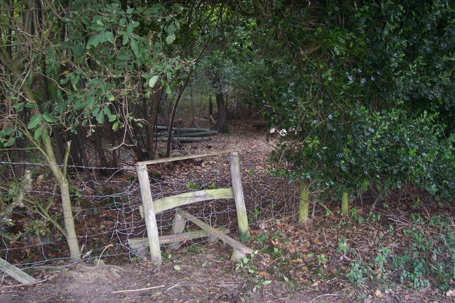 Stile on path to Frittenden Road
