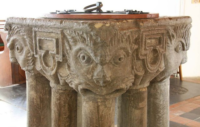 St Mary, South Wootton, Norfolk - Font bowl