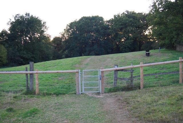 Gate on the footpath by Crockham Hill Church