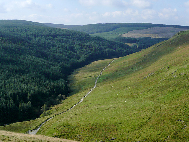 The upper Tywi Valley,Powys